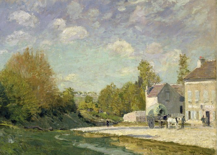 Paysage Greeting Card featuring the painting Paysage by Alfred Sisley