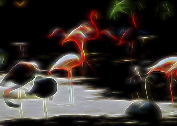 Nature Greeting Card featuring the digital art Peaceful Coexistence by William Horden