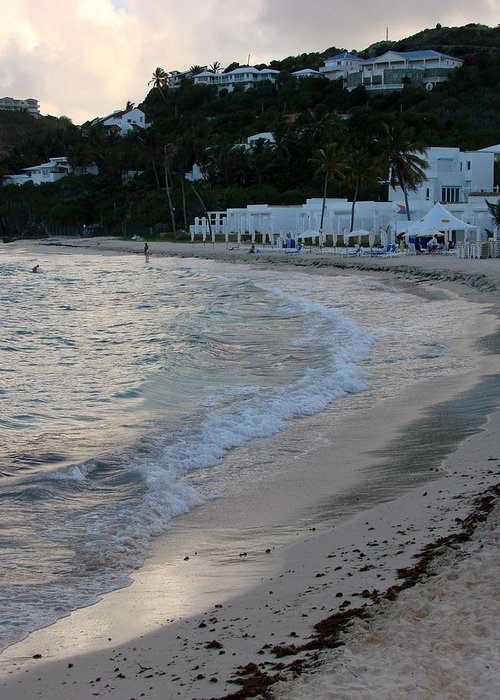 Dawn Beach Greeting Card featuring the photograph Peaceful Evening On Dawn Beach by Margaret Bobb