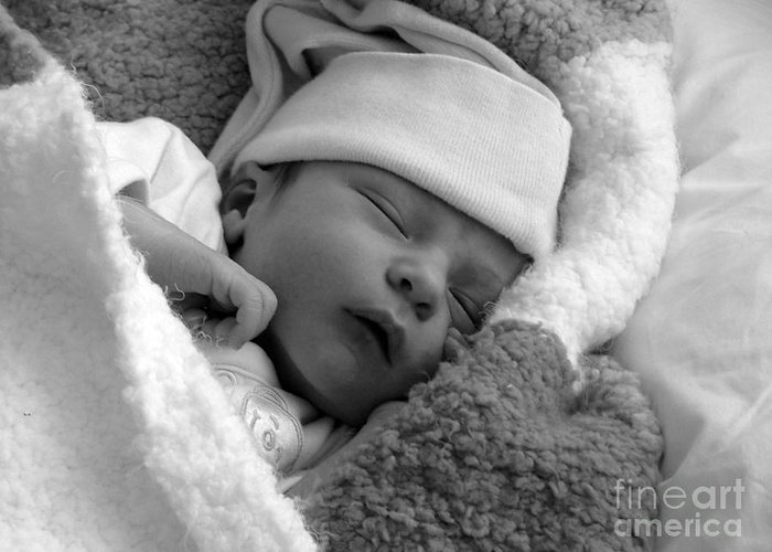 Sleep Greeting Card featuring the photograph Peaceful by Karen Lewis