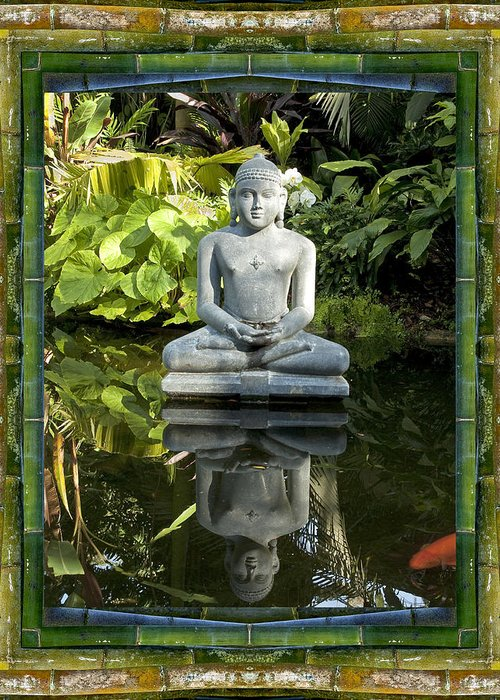 Mandalas Greeting Card featuring the photograph Peaceful Reflection by Bell And Todd