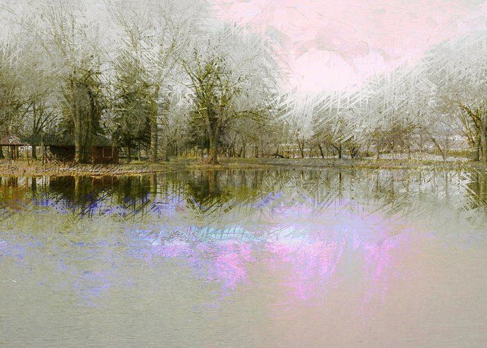 Landscape Greeting Card featuring the photograph Peaceful Serenity by Julie Lueders