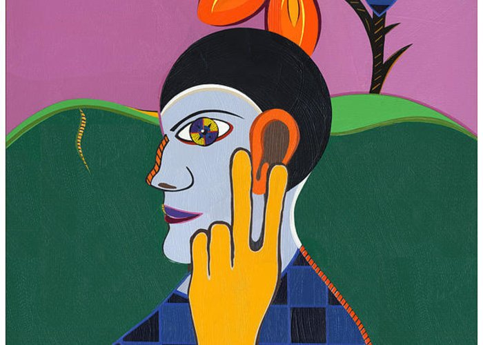 Pop Art Greeting Card featuring the painting Peace.....Of Mind..... by Ruby Persson