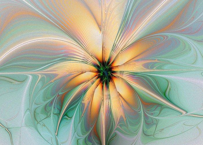 Digital Art Greeting Card featuring the digital art Peach Allure by Amanda Moore