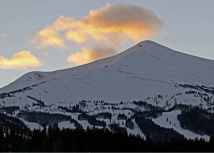 Breckenridge Greeting Card featuring the photograph Peak 8 At Dusk - Breckenridge Colorado by Brendan Reals