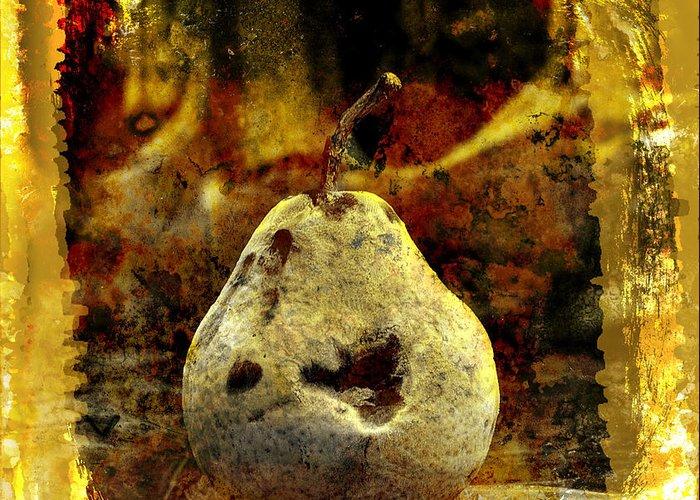 Art Greeting Card featuring the photograph Pear by Bernard Jaubert