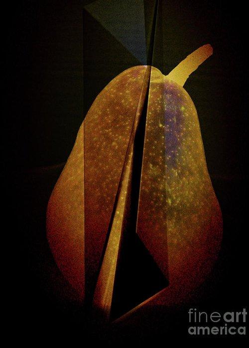 Pear Greeting Card featuring the digital art Pear by Elena Nosyreva