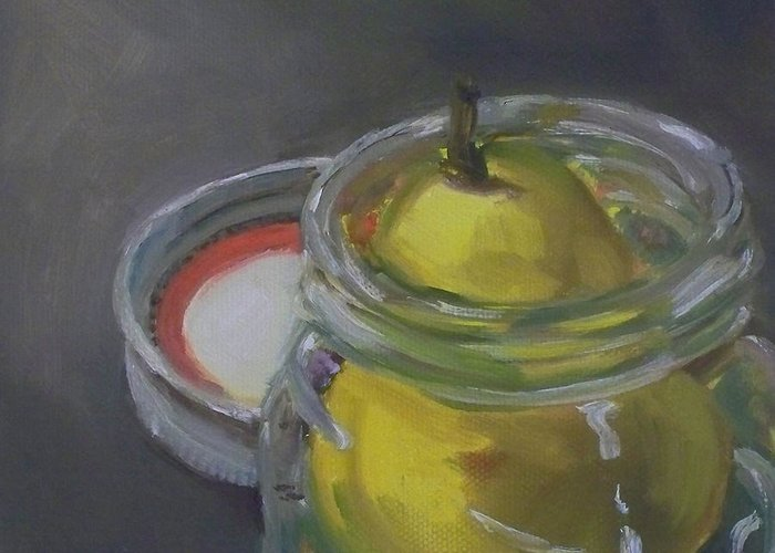 Pear Greeting Card featuring the painting Pear Jam by Kristine Kainer