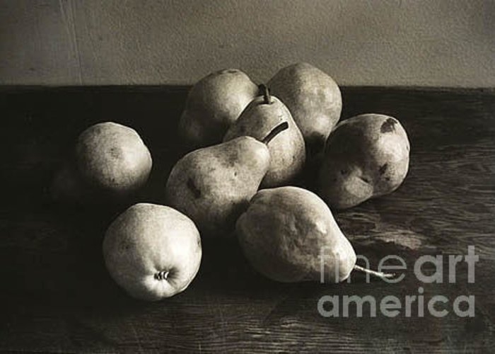Pears Greeting Card featuring the photograph Pears by Michael Ziegler