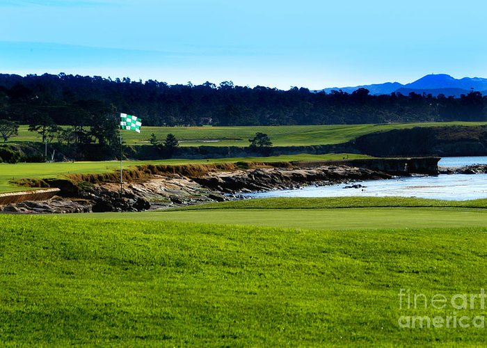 Golf Greeting Card featuring the photograph Pebble Beach Golf Links No 18 by Lyle Huisken