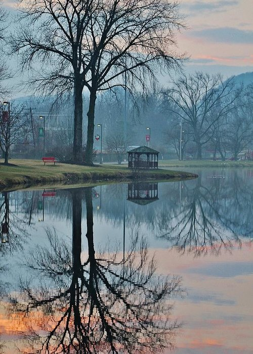Hudson Valley Landscapes Greeting Card featuring the photograph Pecks Pond Morning by Thomas McGuire