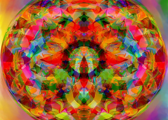 Rabbit Hole Greeting Card featuring the digital art Peering Down the Rabbit Hole by Peter Shor