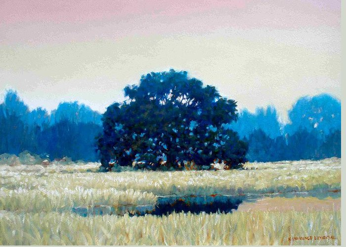 Oak Greeting Card featuring the painting Peggys Oak by Kevin Lawrence Leveque