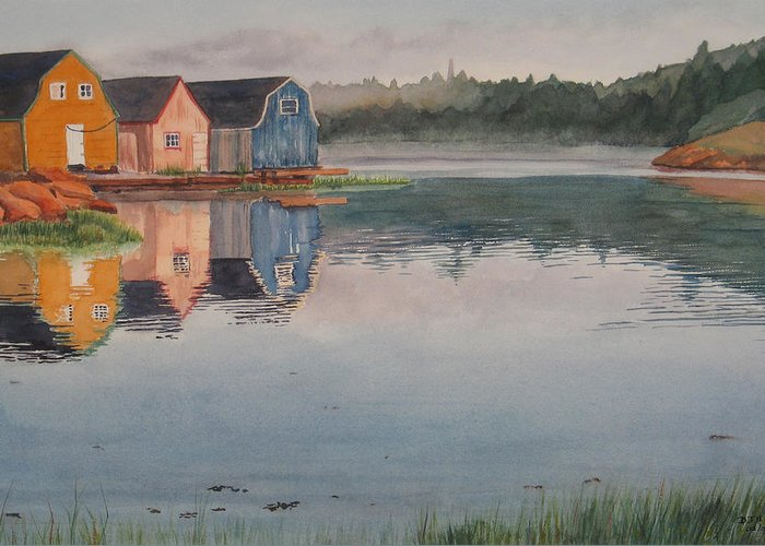 Pei Greeting Card featuring the painting P.e.i. Morning by Debbie Homewood