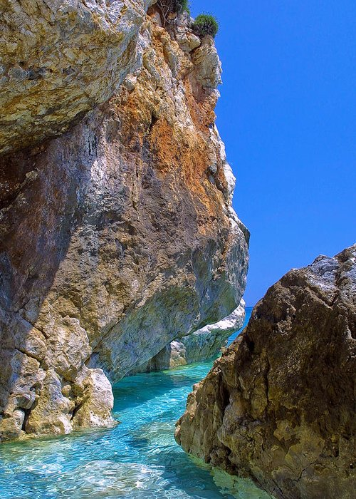 Greece Greeting Card featuring the photograph Pelion Rocks by Neil Buchan-Grant