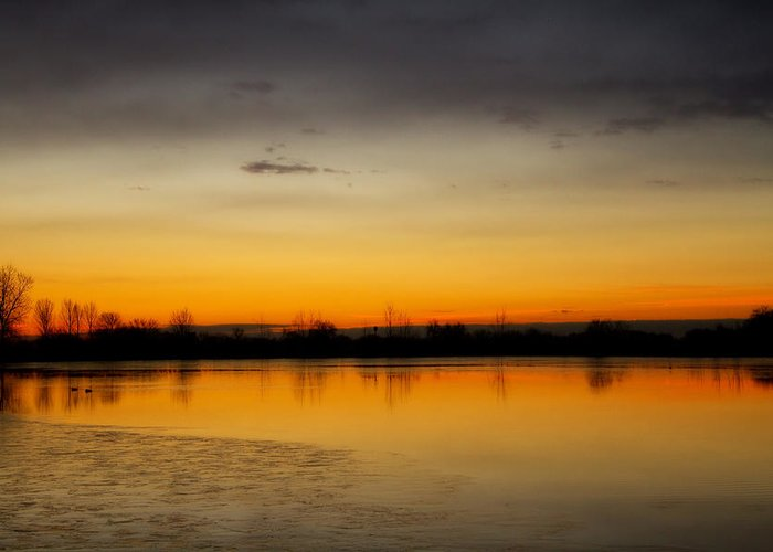 Pella Ponds Greeting Card featuring the photograph Pella Ponds December 16th Sunrise by James BO Insogna