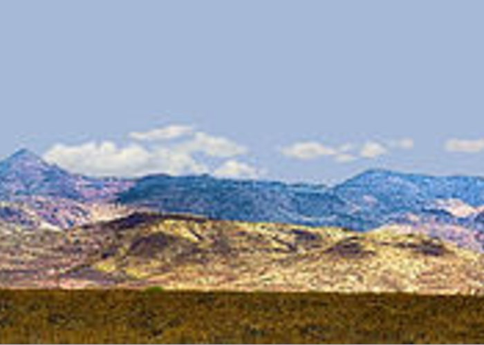 Photography Greeting Card featuring the photograph Peloncillo Mountains Panorama by Sharon Broucek