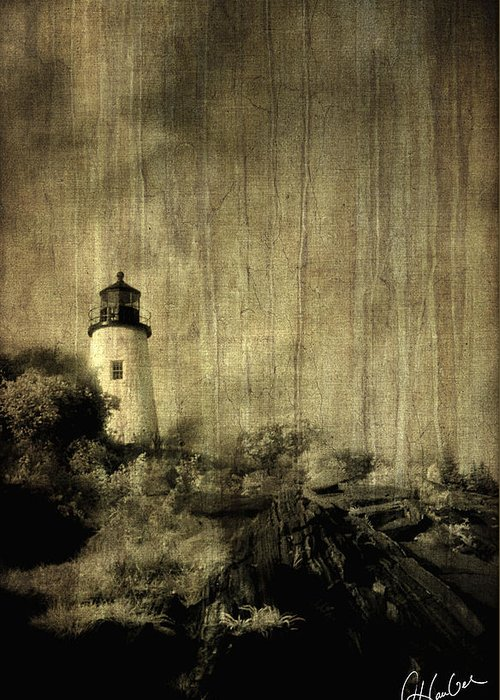 Water Greeting Card featuring the photograph Pemaquid Point by Christine Hauber