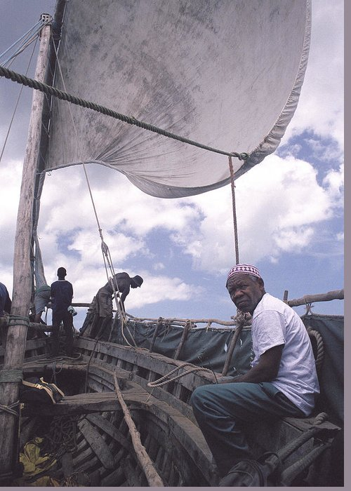 Pemba Island Greeting Card featuring the photograph Pemba Boat by Marcus Best
