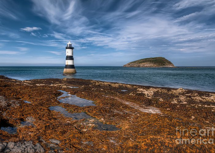 Anglesey Greeting Card featuring the photograph Penmon Lighthouse by Adrian Evans