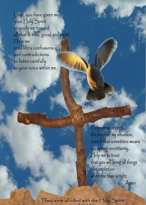 Pentecost Greeting Card featuring the photograph Pentecost Holy Spirit Prayer by Robyn Stacey