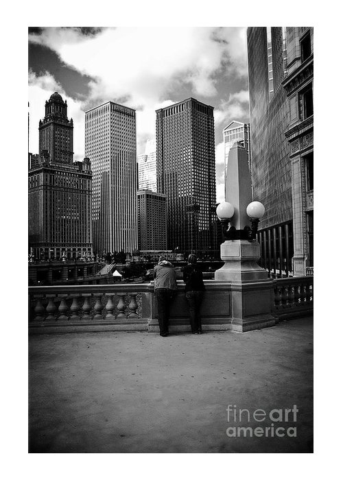 Frank-j-casella Greeting Card featuring the photograph People And Skyscrapers by Frank J Casella