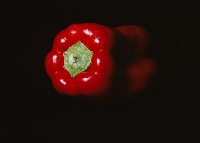 Red Pepper Greeting Card featuring the photograph Pepper by Jessica Wakefield