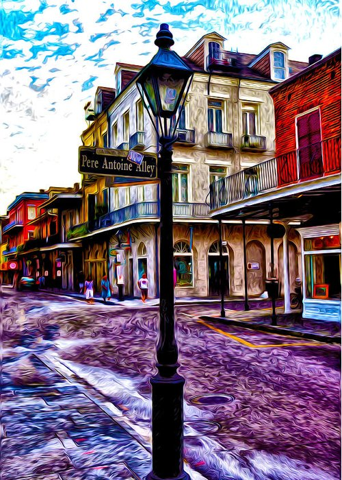 Pere Antoine Alley - New Orleans Greeting Card featuring the photograph Pere Antoine Alley - New Orleans by Bill Cannon