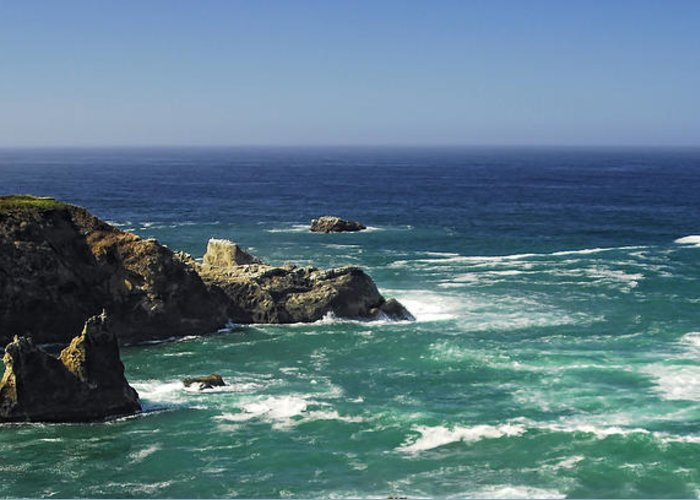 Ocean Greeting Card featuring the photograph Perfect Mix Of Blue And Green by Donna Blackhall