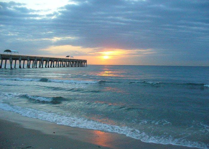Water Greeting Card featuring the photograph Perfect Peace At 6 A.m. by Peggy King