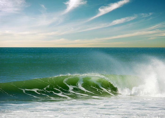 Atlantic Greeting Card featuring the photograph Perfect Wave by Carlos Caetano