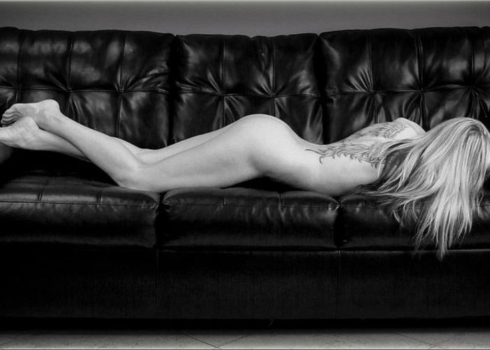 Nude Greeting Card featuring the photograph Perfectly Relaxed by Daniel Amick