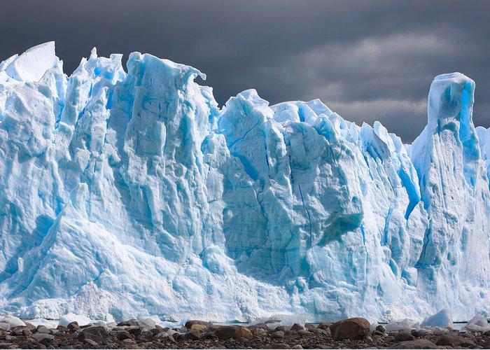 Perito Moreno Glacier Greeting Card featuring the photograph Perito Moreno Glacier - Patagonia by Carl Amoth