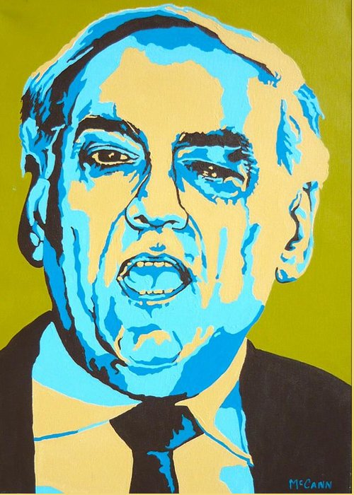 Politics Greeting Card featuring the painting Perle by Dennis McCann