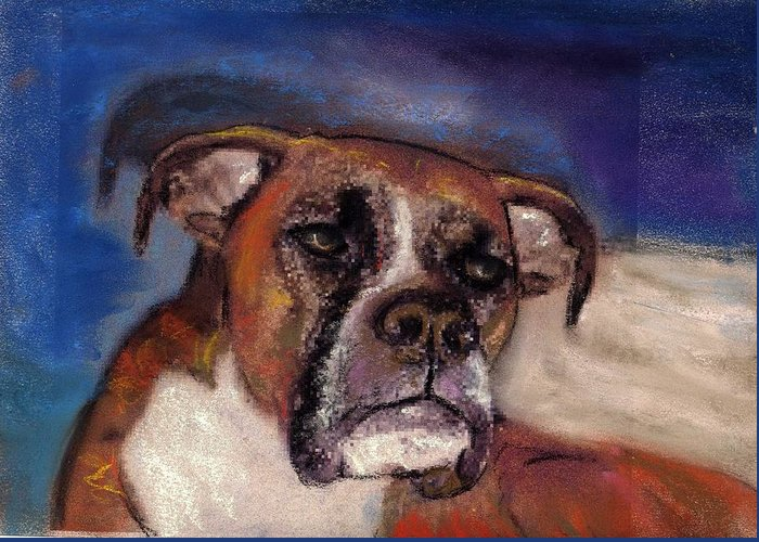 Pastel Pet Portraits Greeting Card featuring the painting Pet Portraits by Darla Joy Johnson