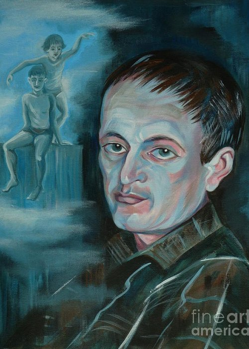 Peter Greeting Card featuring the painting Peter by Anna Duyunova