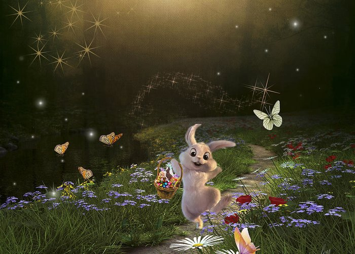Art Greeting Card featuring the photograph Peter Cottontail by Bruce Bouley