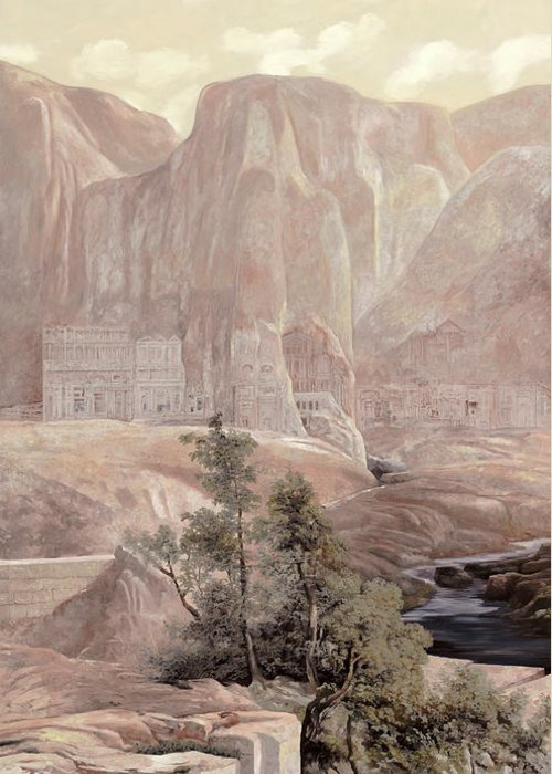 Copy Of A Master Greeting Card featuring the painting Petra by Guido Borelli