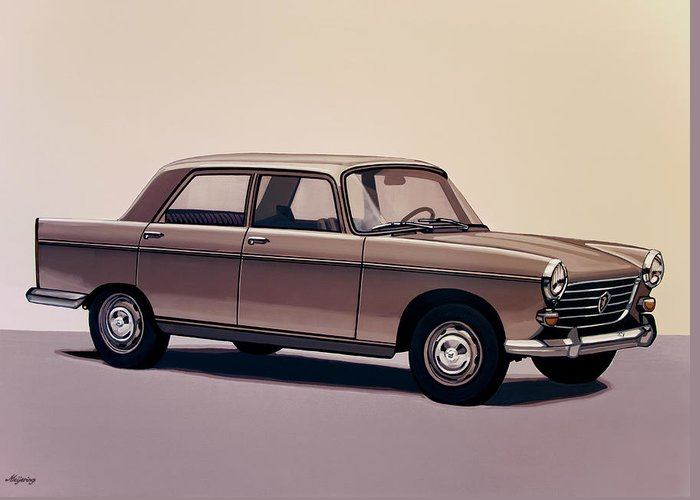 Peugeot 404 Greeting Card featuring the painting Peugeot 404 1960 Painting by Paul Meijering