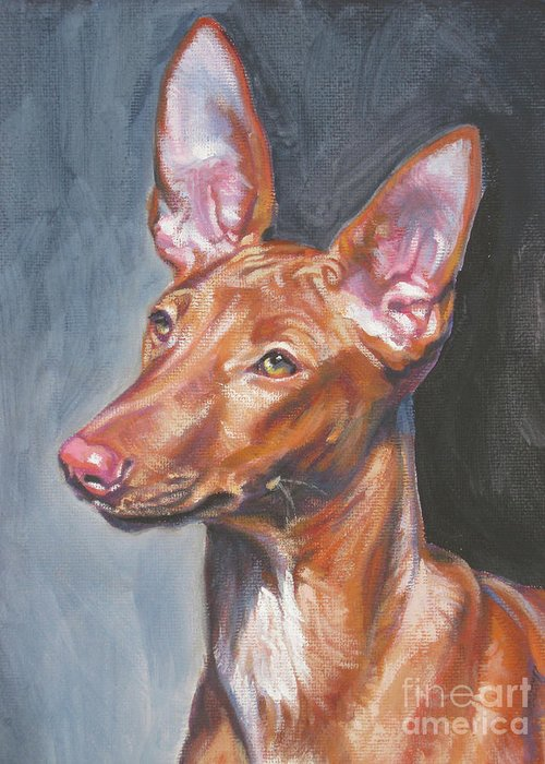 Pharaoh Hound Greeting Card featuring the painting Pharaoh Hound by Lee Ann Shepard