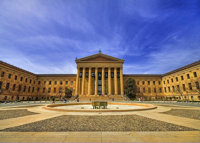 Architecture Greeting Card featuring the photograph Philadelphia Art Museum by Evelina Kremsdorf