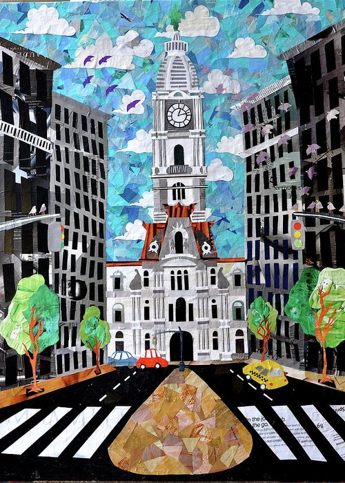 Philadelphia Greeting Card featuring the painting Philadelphia by Blair Barbour