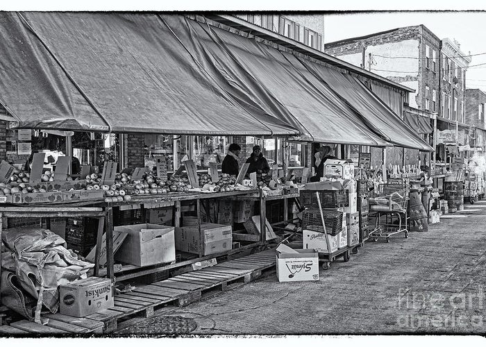 Philadelphia Italian Market Greeting Card featuring the photograph Philadelphia Italian Market 3 by Jack Paolini