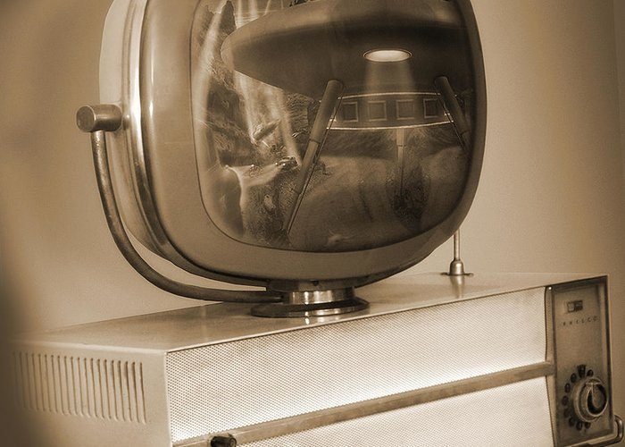Philco Television Greeting Card featuring the photograph Philco Television by Mike McGlothlen