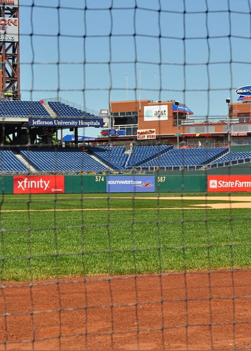 Philadelphia Greeting Card featuring the photograph Phillies by Brynn Ditsche