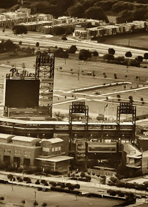 Sports Greeting Card featuring the photograph Phillies Stadium - Citizens Bank Park by Bill Cannon