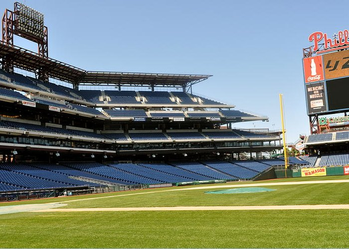 Philly Greeting Card featuring the photograph Phillies Stadium by Brynn Ditsche