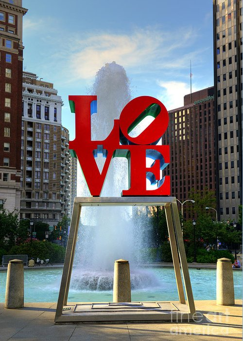 Love Park Greeting Card featuring the photograph Philly Love by Paul Ward