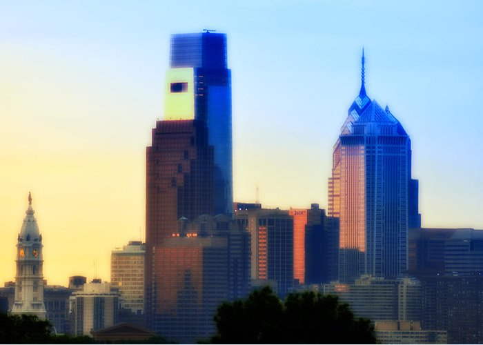Philadelphia Greeting Card featuring the photograph Philly Morning by Bill Cannon