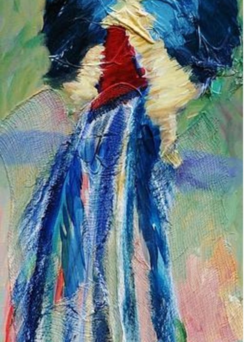 Pheasant Art Greeting Card featuring the painting Phineas by Ginger Concepcion